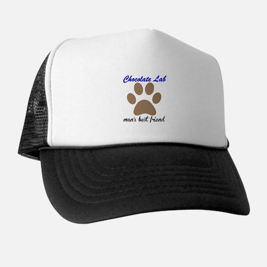 Chocolate Lab Mans Best Friend Hat