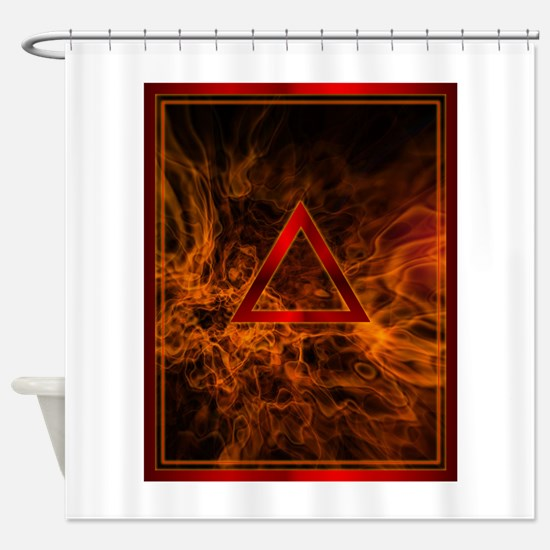 FIRE Tablet.png Shower Curtain