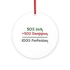 Half Irish, Half Dominican Ornament (Round)