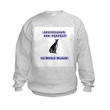 Black Greyhound Kid's Clothes Sweatshirt