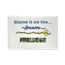 Blame it on the Furlough Rectangle Magnet