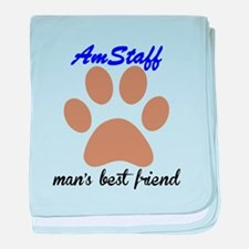 AmStaff Mans Best Friend baby blanket