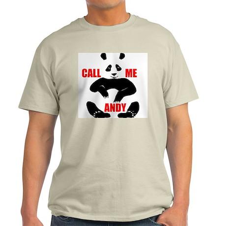 CALL ME ANDY Ash Grey T-Shirt