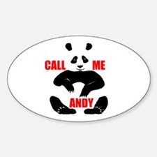 CALL ME ANDY Oval Decal