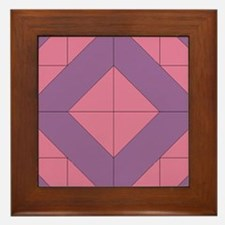 Mosaic Quilt Square Framed Tile