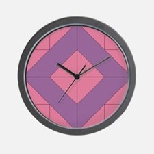 Mosaic Quilt Square Wall Clock