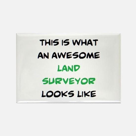 awesome land surveyor Rectangle Magnet