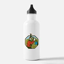Paul Bunyan LumberJack Axe Blue Ox Water Bottle