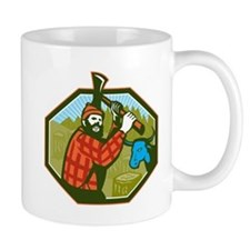 Paul Bunyan LumberJack Axe Blue Ox Mug