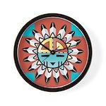 SERIES G: HOPI KACHINA Mask Wall Clock