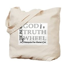 ><> Unicycle For Christ <>< Tote Bag