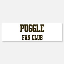 Puggle Fan Club Bumper Bumper Bumper Sticker