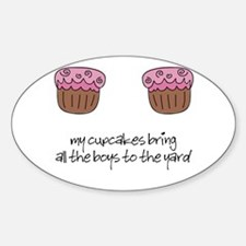Cupcakes Oval Decal