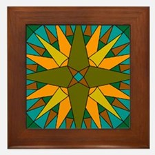 Mariner's Compass Framed Tile