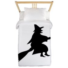Halloween Witch And Broom Twin Duvet