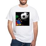 flags football White T-Shirt