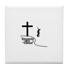 ><> Unicycle For Christ <>< Tile Coaster