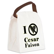 I Hate Cesar Faison Canvas Lunch Bag
