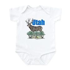 Utah buck watercolor Infant Bodysuit