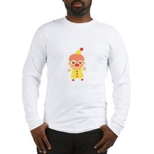 Happy and Cute Circus Clown Long Sleeve T-Shirt