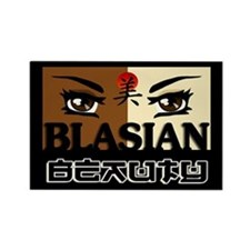 Blasian Beauty Rectangle Magnet