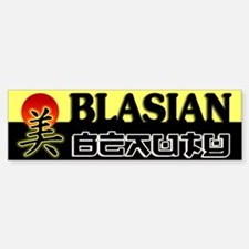 Blasian Beauty Bumper Bumper Bumper Sticker