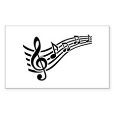 Clef musical notes Decal