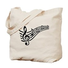 Clef musical notes Tote Bag