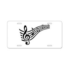 Clef musical notes Aluminum License Plate