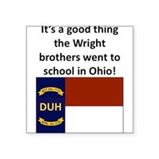 Wright brothers went to school in Ohio Sticker