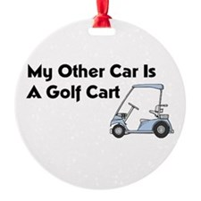 Other Car is a Golf Cart Ornament