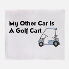 Other Car is a Golf Cart Throw Blanket