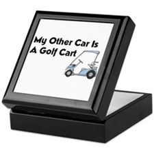 Other Car is a Golf Cart Keepsake Box