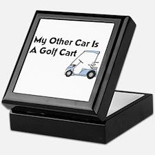 Other Car is a Golf Cart Keepsake Box