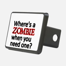 WHERES A ZOMBIE WHEN YOU NEED ONE Hitch Cover