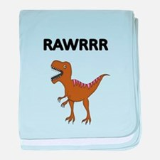 RAWRRR WITH DINOSAUR PICTURE baby blanket