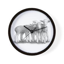 whisperlambs6.jpg Wall Clock