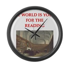 BOOKS3 Large Wall Clock