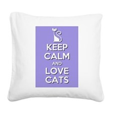 Love Cats Square Canvas Pillow