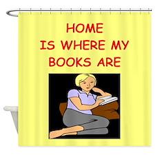 BOOKS2 Shower Curtain