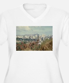 """Honolulu And Diamond Head"" Plus Size T-Shirt"