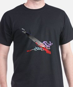 Battle in the Deep Whale vs Squid v T-Shirt