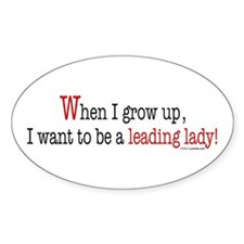 ... a leading lady! Oval Decal