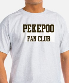 Pekepoo Fan Club Ash Grey T-Shirt