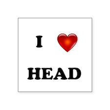 I Love Head Sticker