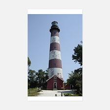 Assateague Lighthouse Rectangle Decal