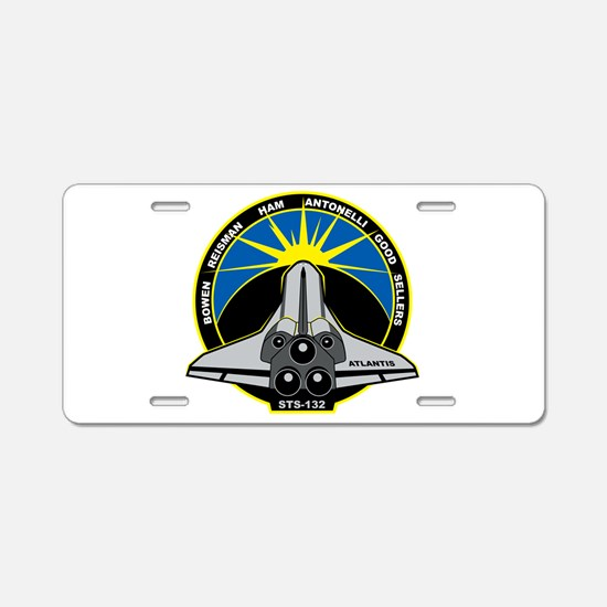 STS-132 Aluminum License Plate
