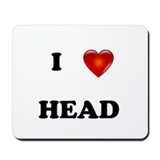 I Love Head Mousepad