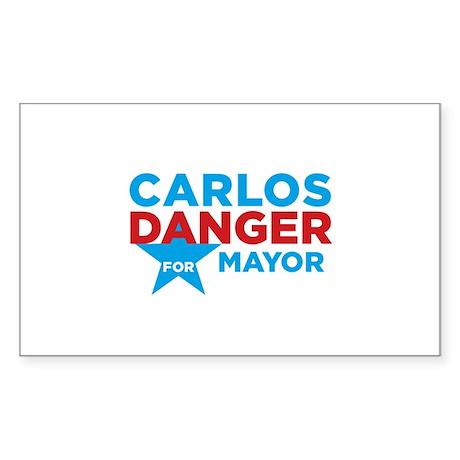 Carlos Danger for Mayor Sticker