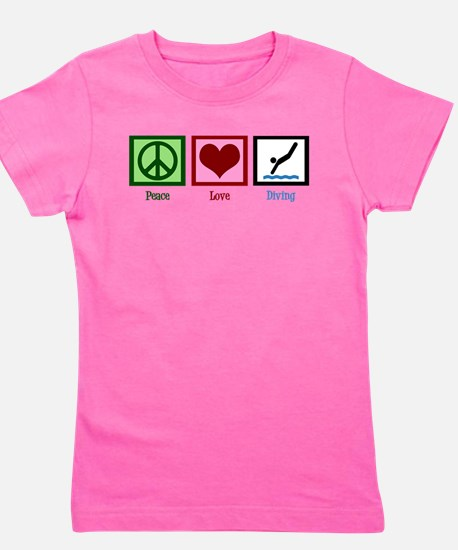 Peace Love Diving Girl's Tee